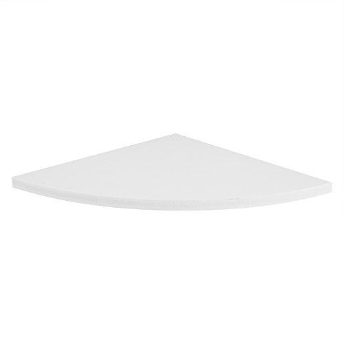 Estantería esquinera flotante con 3 estantes de ángulo, utilizada en la...