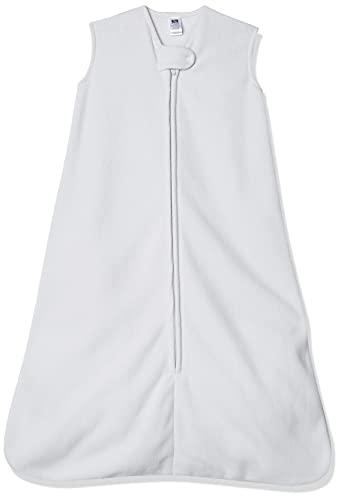 Hudson Baby Unisex Baby Plush Sleeping Bag, Sack, Blanket, Solid Light Gray Fleece, 6-12 Months