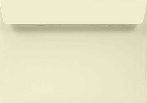 50 Elfenbein Umschläge DIN C5 haftklebend ohne Fenster 162x229mm 120g Aster Smooth Ivory edle Briefumschläge C5 Creme hochwertig für Einladungen Geburtstags-Karten Glückwunsch-Karten Gruß-Karten