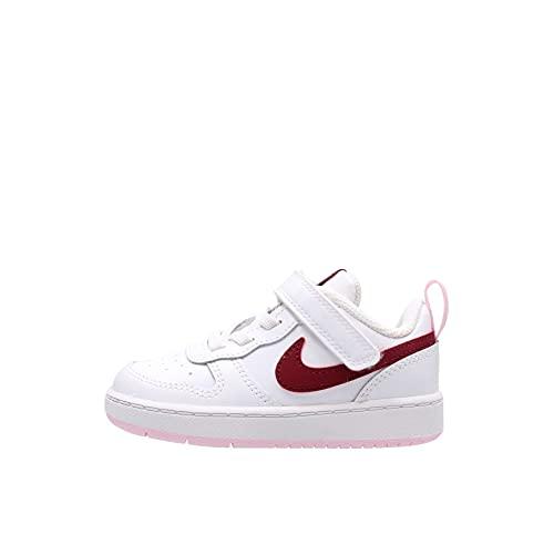 Nike Court Borough Low 2, Zapatillas de Gimnasio, Bianco Bordeaux, 23.5 EU