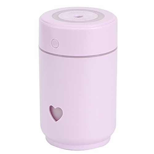 QiruIXinXi Mini humidificador de aire purificación, carga USB portátil de 220 ml, crea un ambiente romántico, adecuado para dormitorio, sala de estar, oficina (morado)