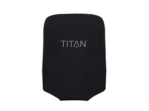 TITAN Luggage Cover UNIVERSAL - aus elastischem Spandex Polyester für 4-Rad Trolleys S, black, 825306-01 Hand Luggage, 55 cm, 0.01 liters, Black