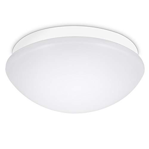 Deckenleuchte mit Bewegungsmelder Einstellbar, Oraymin E27 Deckenleuchte Lampenschirm mit Lichtsensor, IP44 LED Feuchtraumleuchte Lampenschirm Maximaler Anschluss von 60W Lampen, ø27.5CM
