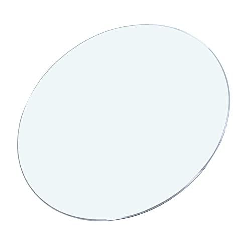 GO2030 Tablero De Mesa De Cristal Templado,Cristal Redondo Tablero De Mesa Templado,Color De Transparente Material De Vidrio,Gran Capacidad De Carga,Grosor 9 Mm, (Color : Clear, Size : 22.8in)