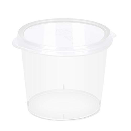 Scatole monouso in plastica trasparente per salsa chutney Scatole con coperchi a cerniera, 50 pezzi Contenitori per stoccaggio di melma Tazze per condimenti