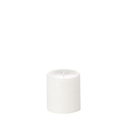 Yummi 4x4 Unscented Column Pillar Candle, White, ea