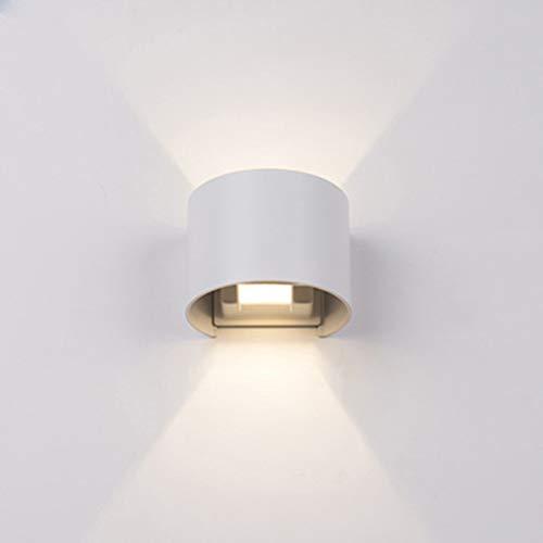 LED Applique Murale Applique Extérieure Imperméable Carrée Ronde Aluminium Appliques Murales étanches à L'humidité Couleur: Blanc Noir,RoundWhiteShell