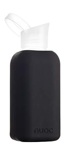 NUOC Smoothies. Botella de Agua Reutilizable de Vidrio//Cristal de borosilicato 500 ml t/és sin BPA y sin Ftalatos y 100/% reciclable Bebidas fr/ías y Calientes: Agua Ligera zumos