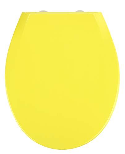 Wenko WC-Sitz Kos in gelb, Thermoplast, 37 x 44 x 10 cm