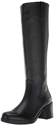 Clarks Women's Hollis Moon Knee High Boot, Black Leather, 80 M US