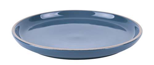 Present Time Assiette à dessert Brisk21,5 cm en terre cuite Bleu