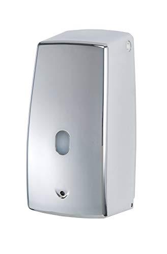 Wenko Treviso Dispensador Jabón 0.65 L, Plateado, 10.5x11x22.5 cm