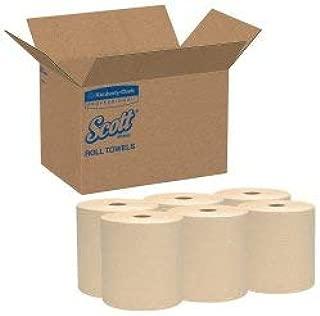 Scott Paper Towel Hardwound Roll 8 Inch X 800 Foot, 04142 - Case of 12