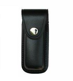 G8DS Hochwertiges Leder Messeretui schwarz 11 cm