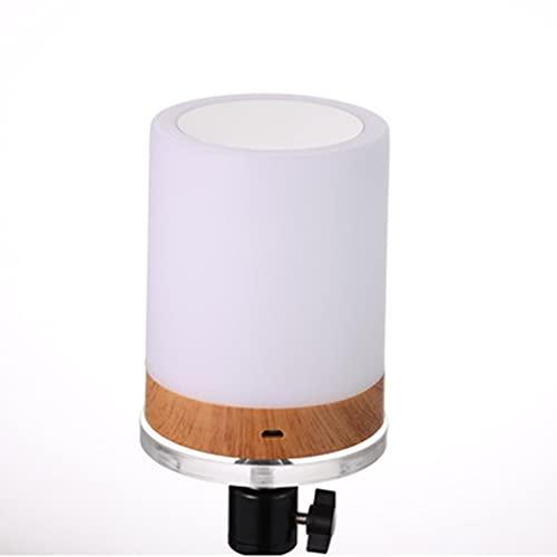DEWUFAFA Lámpara de mesa Toque Noche Sensor portátil Portátil Control remoto Lámpara de noche con carga rápida USB Luz suave regulable + 6 colores Lámpara de mesa de conmutación libremente Adecuada pa