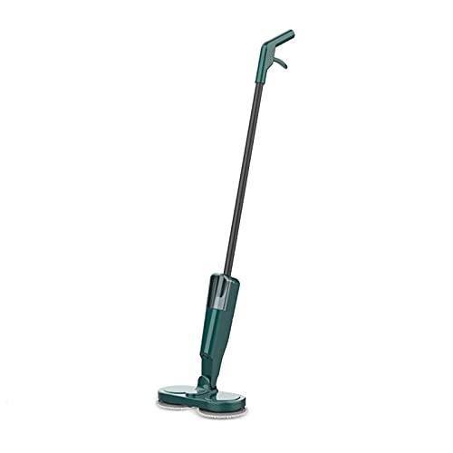 Limpiador de Aspirador El trapeador inalámbrico eléctrico Fucks inalámbrico y húmedo rotación de Aluminio de rotación de Doble Rodillo de 90 Grados Recargable USB para el hogar,Green
