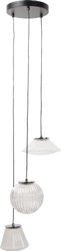Unico Zuiver 5300030 Sparkle - Lampadario da soffitto in Vetro 152 x 25,5 x 152 cm, Colore: Trasparente