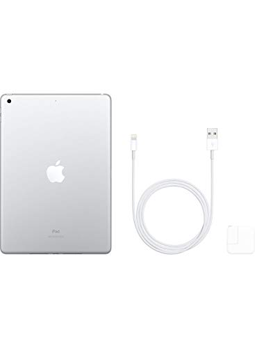 Apple iPad (10.2-inch, Wi-Fi, 128GB) - Silver (Latest Model)