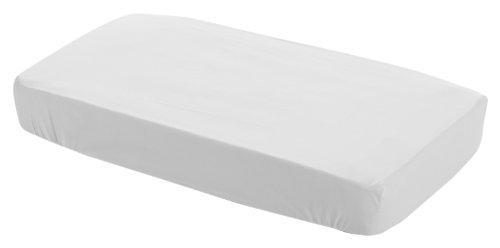 Cambrass Liso E - Sábana ajustable para cuna, 60 x 120 cm, color blanco