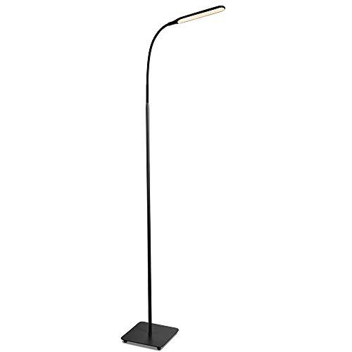 TaoTronics Lampadaire LED Moderne avec 4 Niveaux de Luminosité et 4 Température de Couleur Réglables, Lampe sur Pied de Lecture et Travail avec Col Flexible pour Salon/Chambres/Bureau