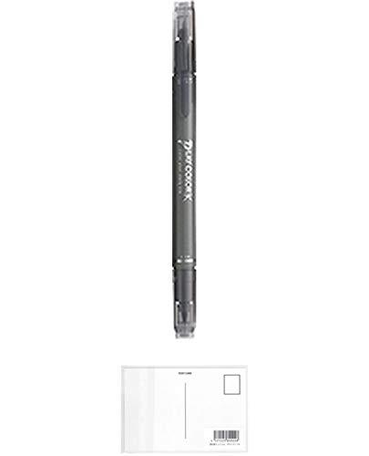 トンボ鉛筆 プレイカラーK はいいろ WS-PK49 【× 20 本 】 + 画材屋ドットコム ポストカードA