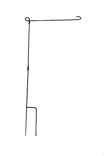 """Clever Creations Flaggenhalter aus DREI Teilen - zum Einstecken in den Boden - Metall - für Flaggenmaße 12"""" x 18"""" (30,5 x 45,7 cm) - 1 Stück"""