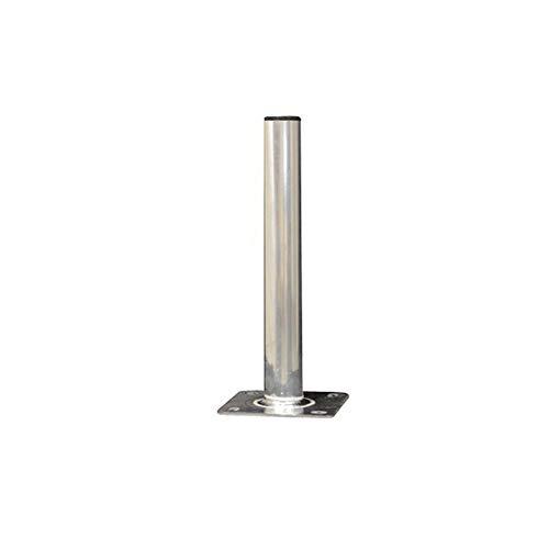 PremiumX 60cm Ø 50mm Standfuß Aluminium Antennen-Mast Rohr-Ständer Mastfuß Flachdach-Halterung für Satellitenschüssel SAT-Spiegel