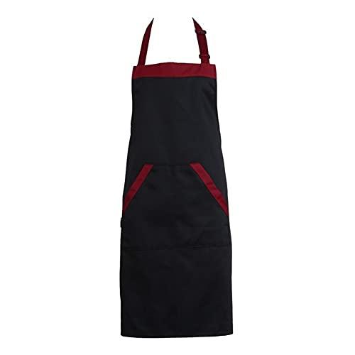 TRSX Delantal De Las Mujeres Delantal Unisex Delantal Halterneck Cocinar para Hornear Delantales Catering Home House Cocina Delantal (Color : A)