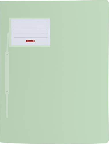 Baier & Schneider Brunnen 102015051, Schnellhefter für A4, transluzente PP-Folie, Fact!Pp, 10 Stück grün pastell