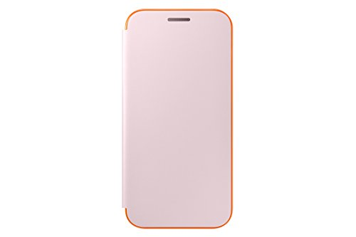 SAMSUNG Neon Flip Cover - Funda para Galaxy A3 2017, Color Rosa