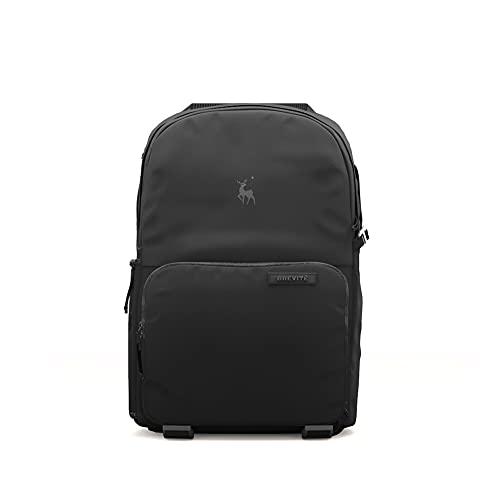 Brevite Jumper Foto-Kompaktkamera-Rucksack: Ein minimalistischer und reisefreundlicher Foto-Rucksack, kompatibel mit Laptop- und DSLR-Zubehör, 18 l, Schwarz
