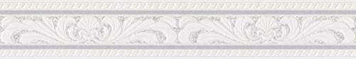 A.S. Création Bordüre Only Borders Borte 5,00 m x 0,10 m creme grau weiß Made in Germany 681614 6816-14