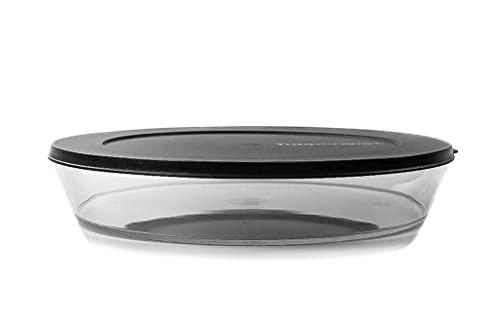 Tupperware Clear Collection 2,0 L flach schwarz Schale Classic Royal Tafelperle