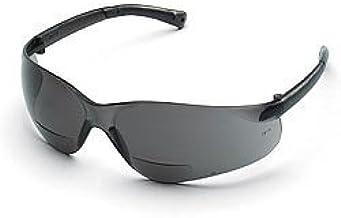 Crews BearKat Bifocal Safety Glasses - Gray Lens 2.0 Diopter