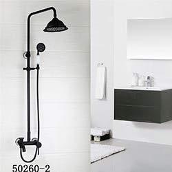 Bathroom Shower Faucet Classic ORB Plating Bathroom Shower Faucet Set Wall Mounted Rainfall Bathtub Faucet Mixer Faucet Tap,502602