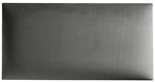 Mocadu Wandkissen Stoff - Polster mit 50 mm Polsterung inkl. Befestigung - Bett Kopfteil Wandpolster - Wanddeko - Wandpaneele | 60 x 30 (Hellgrau RV91)