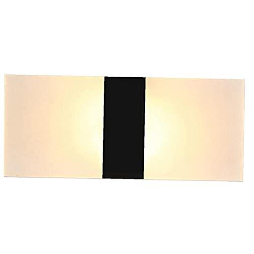 chengbaohuqu Llevó La Luz De La Pared del Aplique De La Lámpara Moderna De Acrílico Decorativo para Dormitorio Sala De Estar Pasillo 22x11cm Caliente Negro Luz