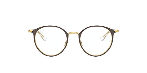 Ray-Ban Ry1053 - Gafas redondas para niños, Lente café/Demo, 43 mm