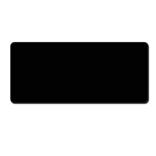 NASHUBIA groot formaat alle zwarte muismat zuiver en eenvoudig geheel zwart muismat Gaming tafel mat Protector voor tablet Pc Notebook 120x60cm