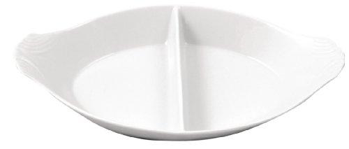 Olympia Lot de 6 plats ovales divisés en porcelaine 290 x 160 mm