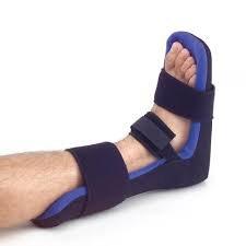 Stecca tutore ultra leggera dorsale notturna regolabile con imbottitura morbida lavabile e cuneo per piede