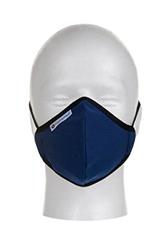 Mascarillas higiénicas Homologadas de tela reutilizables. Azul, Talla 4, 1 Unidad.