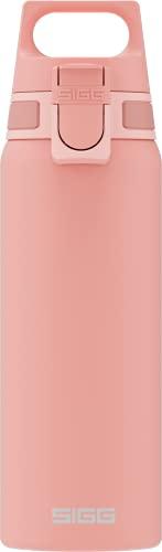 SIGG Shield One Shy Pink Trinkflasche (0.75 L), schadstofffreie und auslaufsichere Trinkflasche, langlebige Trinkflasche aus Edelstahl mit ONE Top