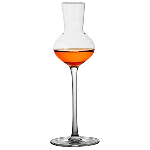 DealMux copa de vino tinto 140 ml vaso de whisky vaso de aroma de whisky cristal de whisky vaso de degustación de aroma elegante decoración (color: 1 pieza, tamaño: 21.5x7.5cm)