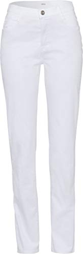 BRAX Damen Style Mary City Sport Premium Five-Pocket Slim Fit Hose, White, W29/L32(Herstellergröße: 38)