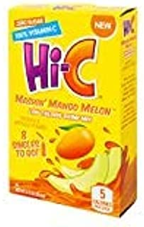 Hi-C Mashin' Mango Melon ZERO sugar singles to go! drink mix (2) boxes