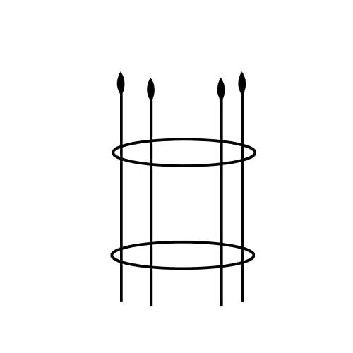 BAOLI Suporte para plantas, torre vertical circular treliça para jardim, 25 cm de diâmetro, estacas para crescimento de plantas internas para tomates, rosas, vasos de plantas, plantas de videira, plantas de escalada