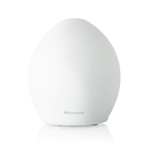 Medisana AD 635 Aromadiffuser aus Milchglas, Vernebler mit Aromafach, Wellnesslicht in 6 Farben, ideal für Yoga Salon, Spa, 100 ml