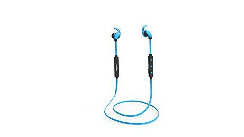 CoolBox CoolSport II – Auriculares bluetooth deportivos inalámbricos con manos libres color azul
