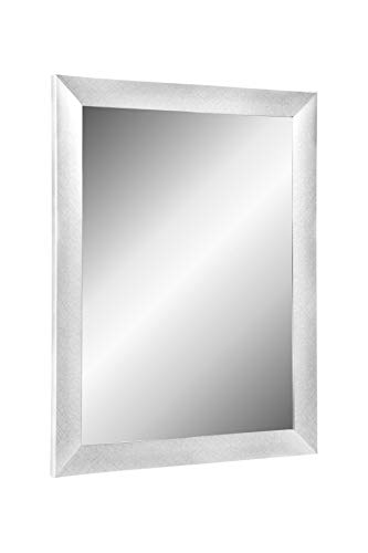 Online-GalleryKing TheMIRROR' gerahmter Spiegel aus echtem Glas 60 x 45 cm Maßanfertigung Wandspiegel in Farbe Alu Criss Cross z.B als Flurspiegel Salonspiegel usw.